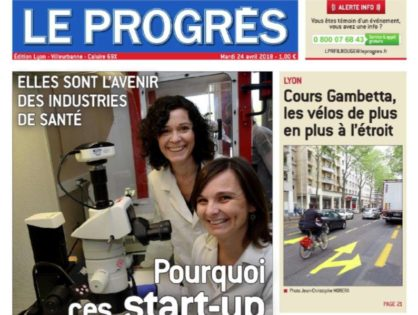 "OncoFactory highlighted by ""Le Progrés """