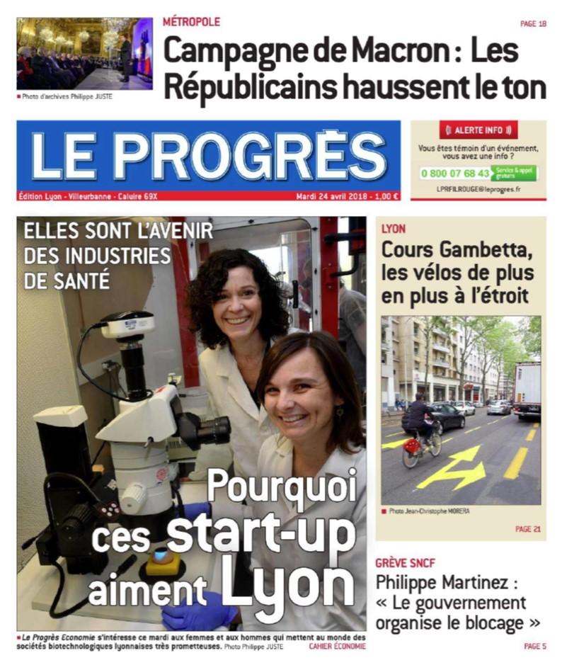 "OncoFactory highlighted by ""Le Progrés """